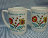 Two Swedish Berggren Coffee Mugs Perfect Condition