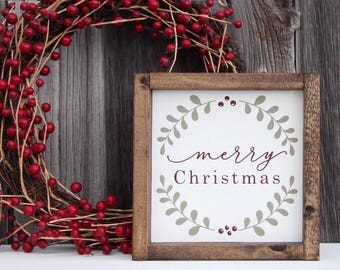 Merry Christmas wood sign, Merry Christmas sign, Christmas wood sign, Holiday wood sign, Christmas decor, Holiday decor, Christmas sign