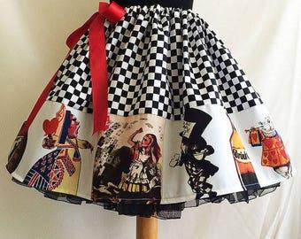 Alice In Wonderland clothing, Alice Skirt,  Costume, Skirt, Full Skirt, Cosplay,  By Rooby Lane