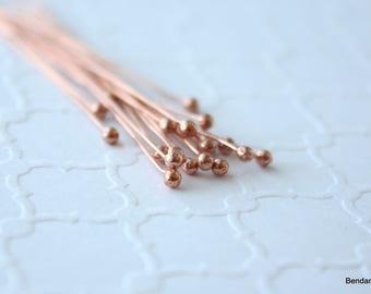 20 Handmade Copper Ball End Headpins 24 Gauge
