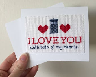 Doctor Who Hand Embroidered Valentine