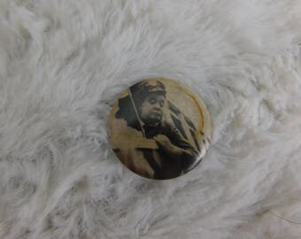 Vintage Photo Pin Pinback Button of Ralph Kramden ( Jackie Gleason ) From The Honeymooners dr2