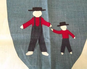 Amish Father and Son panel