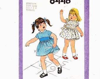 Simplicity 8448 Sz 3 & 4 Toddlers' Dress and Panties