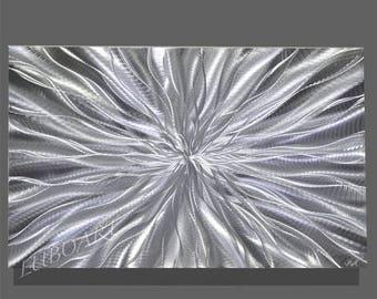 SALE 70% OFF Abstract Silver Metal art contemporary colour light reflect Wall Decor vertical horizontal shiny sculpture modern original hand