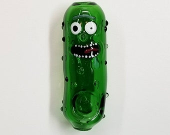 JUMBO Pickle Pipe ~ hand blown glass by Ehi