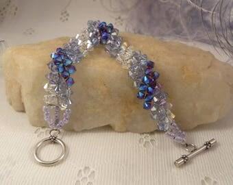 Lilac Swarovski Crystal Designer Bracelet