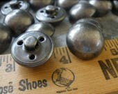 "Dark Pewter color hollow dome shank buttons size 30L (3/4"" 19mm) coat blazer jacket suit sewing crafts gunmetal industrial steampunk"
