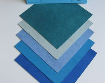 Ultrasuede Soft Beautiful Blue Hues 5x5 Squares
