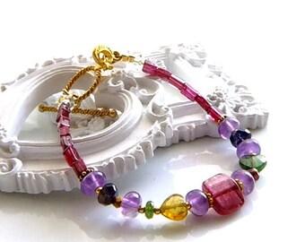 Pink Tourmaline  Bracelet