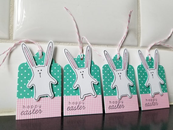 Easter basket gift tags set of 5 easter hang tags easter negle Images