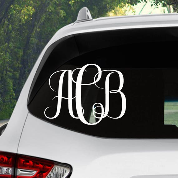 Monogram Car Decal Car Monogram Decal Monogram Decal - Monogrammed custom vinyl decals for car