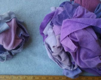 Cashmere Recycled Remnants - Fuchsia through Lavender for DIY Crafts and Projects - 16 oz. Bundle Size