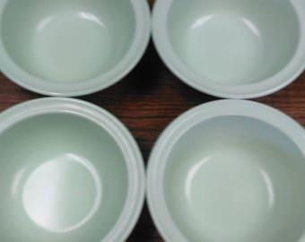Set of 4 ~ Mint Green Prolon Cereal Bowls
