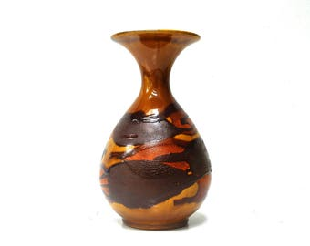 Large Vintage Royal Haegar Earth Wrap Drip Vase