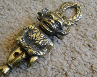 Antique Lincoln Devil Satan Imp brass door knocker 1960