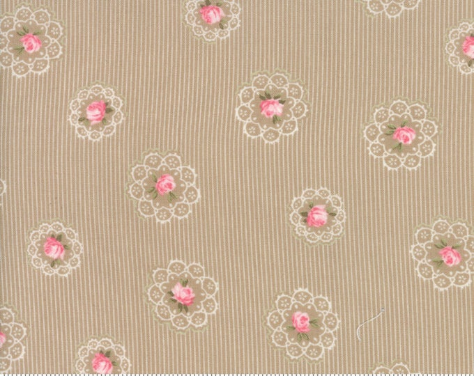 Caroline oatmeal 18652 16 by Brenda Riddle Designs for Moda Fabrics