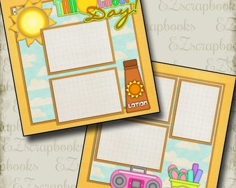 TANTASTIC - 2 Premade Scrapbook Pages - EZ Layout 2064