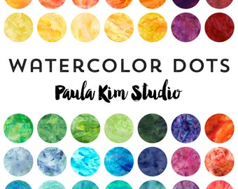Watercolor Circles Clip Art Instant Download Commercial Use Clipart