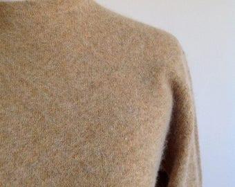 ON SALE Autumn Wheat Angora and Wool Sweater - Size Medium