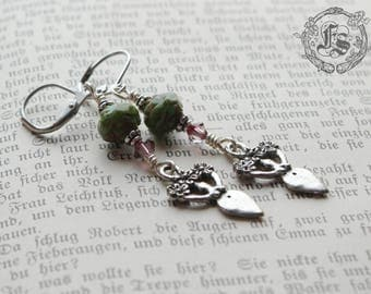 Spring Goddess Earrings. Flora.