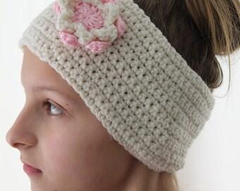 """Handmade Ear Warmer, Crochet Ear Warmer, Winter Ear Warmer, Winter Headband, Ear Warmer Headband,  Size - Adult Head size 21"""" to 22"""""""