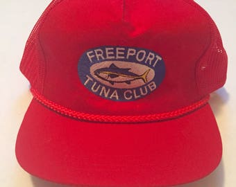 Vintage Freeport Tuna Club Snapback Mesh Trucker Hat