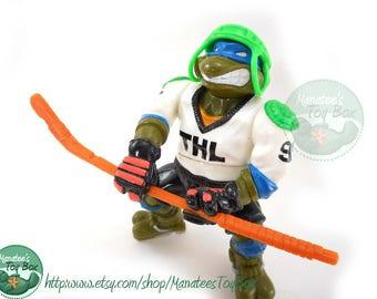 TMNT Action Figure: Slap Shot Leo w/ Helmet and Hockey Stick
