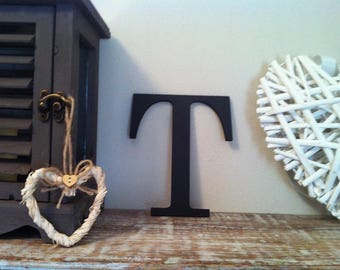 Giant Wooden Letter - T - Times Roman Font, 50cm high, 20 inch, any colour, wall letter, wall decor - various colours & finishes
