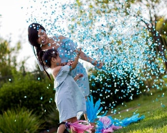 Gender Reveal Balloon | Gender Reveal Party | 36 Inch Balloon | Gender Reveal Baby Shower | Confetti Balloon
