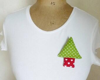 Christmas brooch christmas tree brooch christmas tree pin christmas badge christmas gift  christmas pin christmas pine brooch