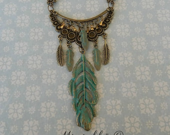 necklace gypsy feather
