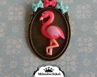 necklace pink flamingo