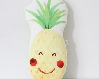 Pineapple cushion Pineapple Pillow Kawaii Pineapple Cushion Fruit Plush Tropical Throw Pillow