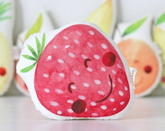 Strawberry Baby Rattle Strawberry Rattle Kawaii Strawberry Rattle Baby Shower Gift New Baby