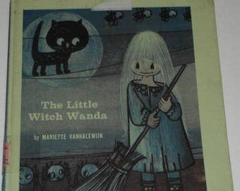 The Little Witch Wanda by Mariette Vanhalewijn Vintage hardcover ex-library book