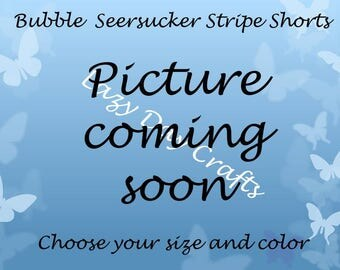 Bubble Seersucker Stripe Shorts  - Toddler Size 12 months to 5T - Many Colors Available
