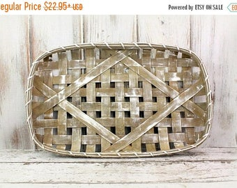 SALE Tobacco Basket, Farmhouse Style, Wall Basket, Fixer Upper Style, Magnolia Market, Rustic Wall Art, Primitive Basket, Gallery Wall Decor
