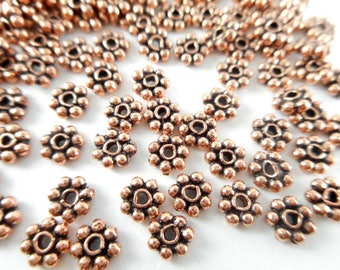 Copper Daisy Spacers