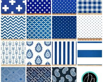 Blue Curtains- Pair of Drapery Panels- Cobalt Curtains- Designer Drapes- Window Treatments- Blue Cafe Curtains- Custom Curtain- Window Shade
