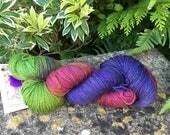 """100grms hand painted merino/yak/nylon  yarn """" anemome   """""""