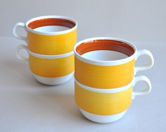 Rorstrand Yellow Fokus Cups - Made in Sweden