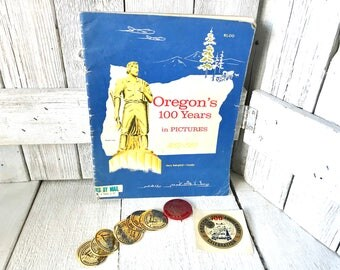 "Vintage Oregon history book ""Oregons 100 Years in Pictures"" Centennial 1958/ free shipping US"