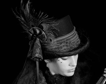 Gothic Steampunk wedding top hat
