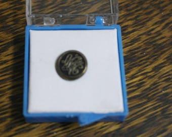 vintage brass nn tie pin