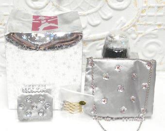 SOLD Vintage American Girl STARRY NIGHT Accessories Globe Wallet Purse Hair Pins Unused