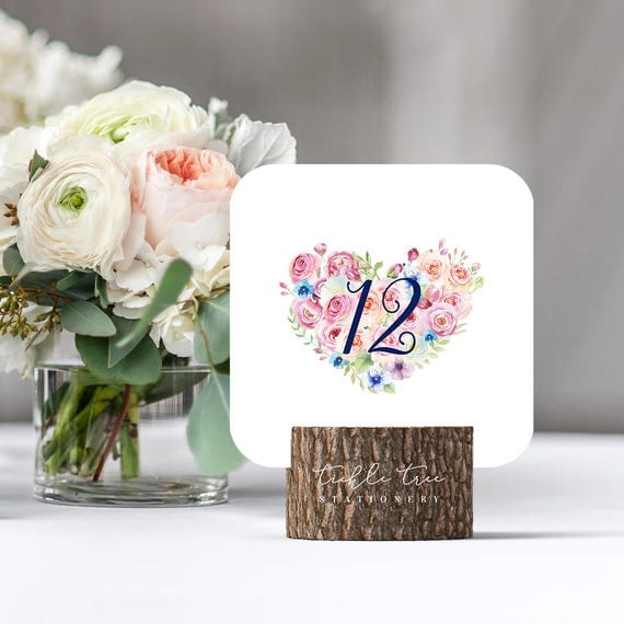 Table Numbers - Boho Pink (Style 13765)