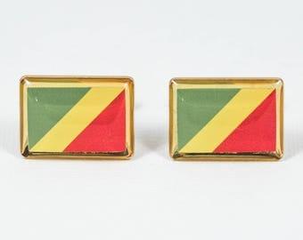 Republic of the Congo Flag Cufflinks