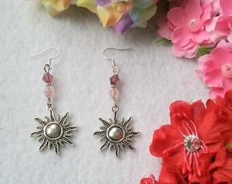 Pair of  Retro Sun Earrings