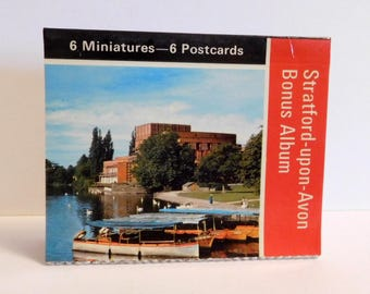 STRATFORD-UPON-AVON, England Postcard Book Miniature Post Cards - Shakespeare Birthplace Souvenir - Anne Hathaway Cottage - Photos Pictures